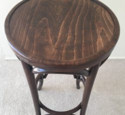 Embossed Fameg Bentwood High Stool